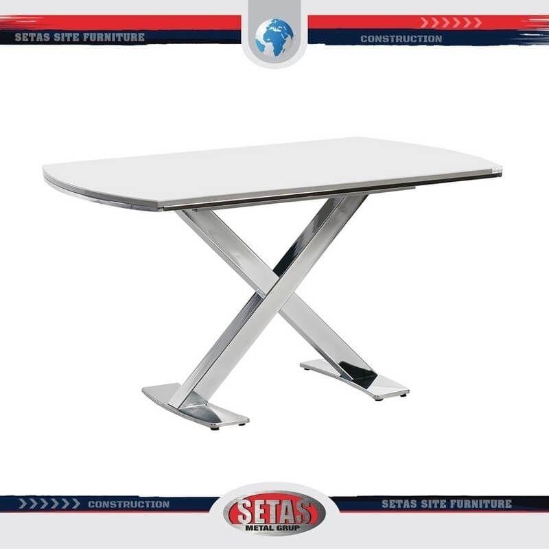 Metal Ayaklı Yemek Masası